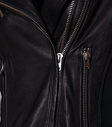IRO Damen Lederjacke Gipsy Bikerjacke Jacke Leder – Leder – schwarz black 42 - 4