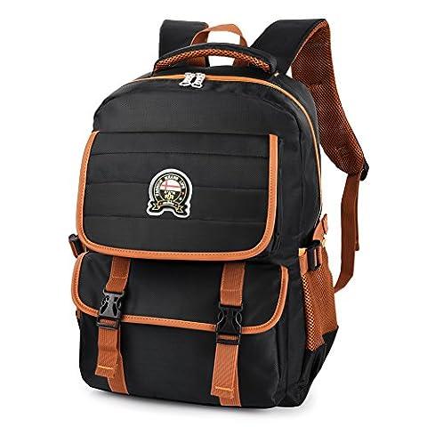 Vbiger Schulrucksack Wasserdicht Schulranzen Kinder Sportrucksack Backpack Daypack mit reflektierendes Zeichen Sportrucksack Backpack für Jungen mit Großer Kapazität