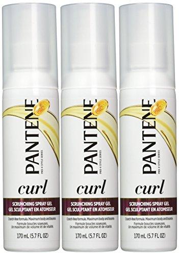 Pantene - Gel spray Pro-V Rehausse-boucles - Solutions pour cheveux bouclés - Revigore boucles et vagues - 165 ml (Lot de 3)