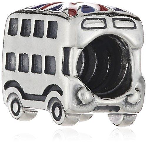 Pandora Damen-Charm 925 Sterling Silber Union Jack Bus Emaille rot 791049ER -