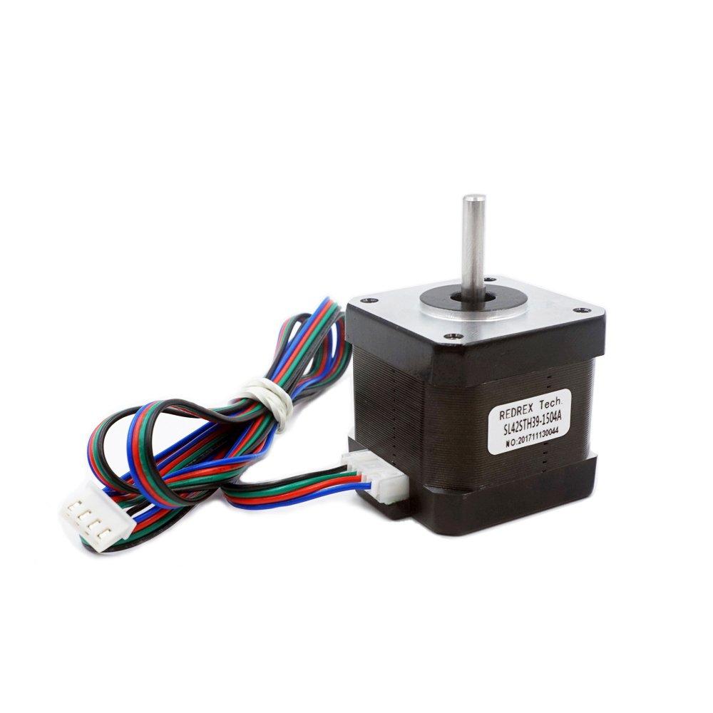 Redrex high torque nema 17 stepper motor 1 5a 40ncm 57 1 for Nema 17 stepper motor torque