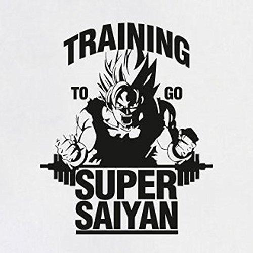 TEXLAB - DBZ: Training to go Saiyan - Langarm T-Shirt Weiß