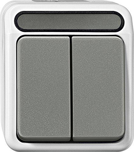 Merten MEG3115-8029 Serienschalter, 1-polig, lichtgrau, AQUASTAR
