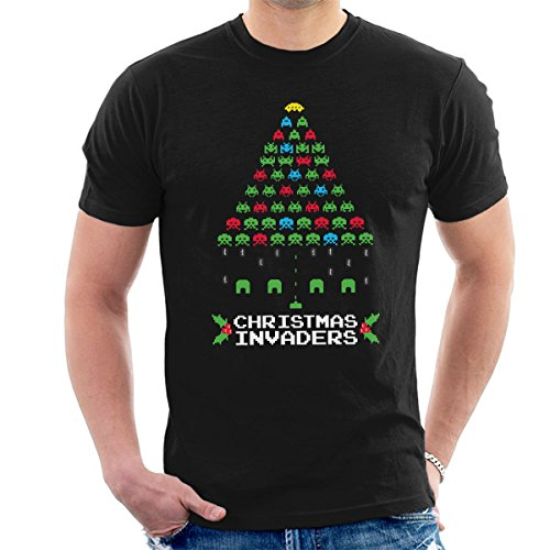 Christmas Space Invaders Men's T-Shirt