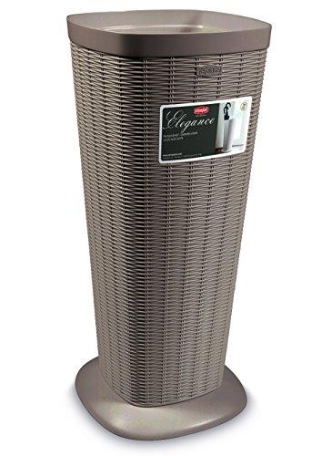 Portaombrelli porta ombrelli contenitore in dura resina di plastica tortora h 57 cm