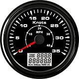ELING Universal Boot GPS Tacho Kilometerzähler 0–35Knoten milometer mit 8verschiedenen Hintergrundbeleuchtung 85mm