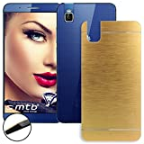 mtb more energy® Hard-Case Brushed Metal für Huawei Shot X/Honor 7i (5.2'') | Gold | Schutz-Hülle Cover Tasche