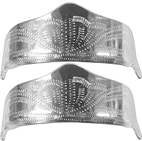 Modestone Pair Nickel Silver Heel Caps/Guards Western Filigree O/S Silver (Justin Caps Frauen)