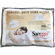 Sanggol® Premium - Almohada individual de plumas y plumón de pato, blanco 100%