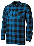Mil-Tec Holzfällerhemd schwarz/blau Gr.XL