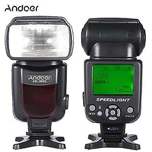 Andoer Flash Speedlite Universale per Canon Nikon Sony Panasonic Pentax Olympus Fotocamere DSLR Supporto Zoom Manuale Modalità M/MULTI/S1/S2
