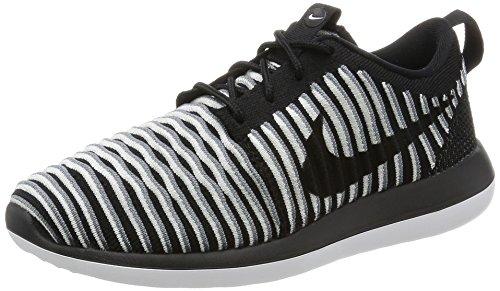 Nike Damen W Roshe Two Flyknit Laufschuhe, Black