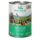 Müllers Naturhof | Wild und Huhn | 6 x 400 g | Nassfutter für alle Hunderassen | getreidefrei und glutenfrei | mit Gartengemüse und Wiesenkräutern | naturnahe Rezeptur mit 65% Fleisch