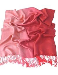 CJ Apparel Rouge Motif à Deux Tons Châle Pashmina écharpe Wrap Châles  Pashminas 88972c371d3