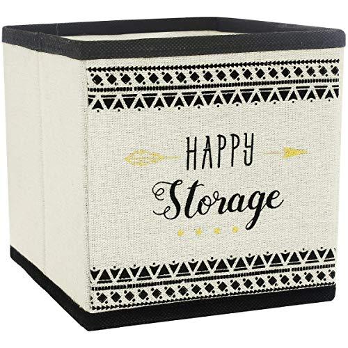 Promobo Aufbewahrungskorb, faltbar, skandinavische Deko Happy Storage