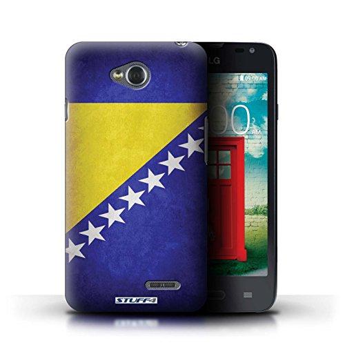 Kobalt® Imprimé Etui / Coque pour LG L65/D280 / Chili/Chiliean conception / Série Drapeau Bosnie-Herzégovine