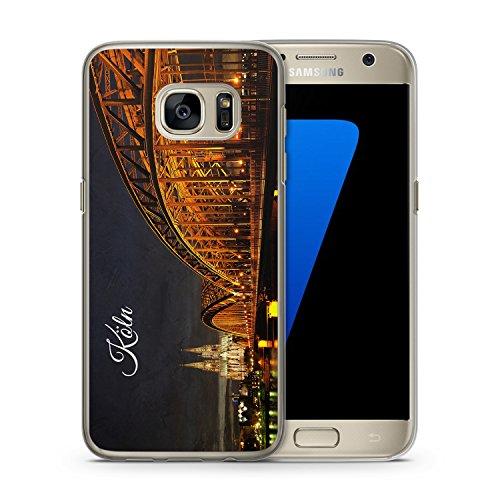 Köln Schriftzug Skyline Foto - Handy Hülle für Samsung Galaxy S7 - Hard Case Cover Schutzhülle - Deutschland Fotografie Städte Stadt Reisen Schöne Bedruckte Besondere Hüllen
