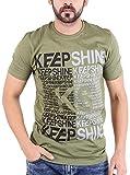 Piya Bawari Men's Cotton T-Shirt (Green,...