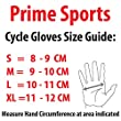 PrimeLeather Quality Real Leather Soft Fingerless Gloves For Weight Training Cycling Bike Wheelchair GYM Etc Medium by Prime Leather