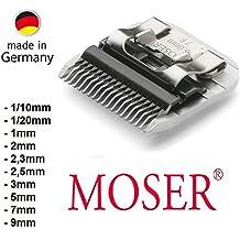 """Samsebaer Edition Testina del rasoio elettrico, tutte le misure, dal MOSER """"snap on"""" originale, ad es. per: MOSER Max 45 + Max 50, Aesculap, Oster e Andis, (1/10, 1/20, 1, 2, 2,3, 2,5, 3, 5, 7, 9 mm) 50F 40F 30F10F 10W 9F 8.5F 7F 5F 4F, 3 mm"""
