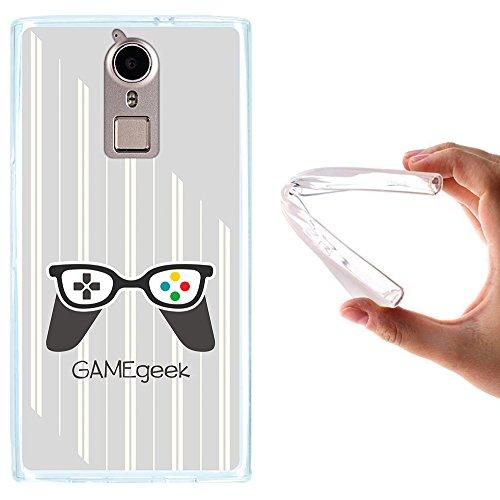 WoowCase Doogee F5 Hülle, Handyhülle Silikon für [ Doogee F5 ] Game Geek Handytasche Handy Cover Case Schutzhülle Flexible TPU - Transparent