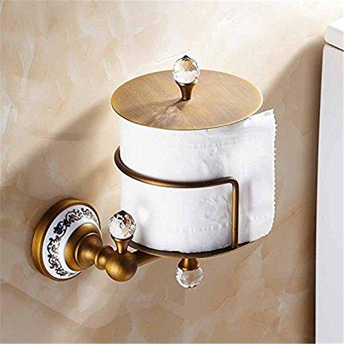Weare Home Kristall Stil Antik Messing Kristall Toilettenpapier Tissue Halterung (Papier-handtuch-halter Messing-freistehende)