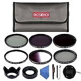 52MM Filter Set Beschoi 6Pcs Filter Kit ( UV+CPL+Verlauf Grau Filter)+ ND Filterset(ND2+ND4+ND8)+Kamera Zubehör