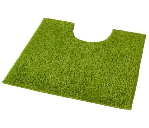 Kleine Wolke 4018645150 WC-Vorleger Kansas, 50 x 50 cm mit Ausschnitt, grün