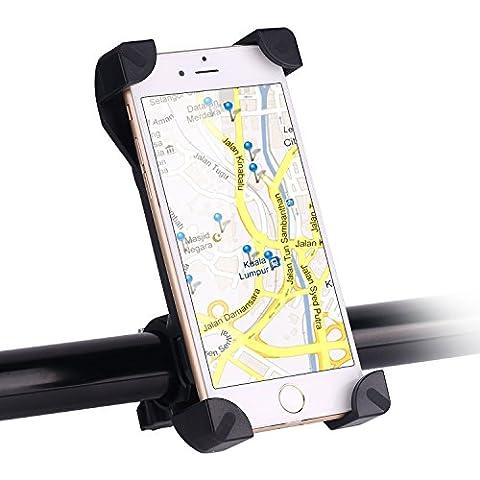 Bareas® CH-01 de la bici del montaje del teléfono, sostenedor Tryone montaje de la bici de la bici de la motocicleta universal y montaje del teléfono del sostenedor con 360 Girar para el iPhone Samsung Galaxy Nexus 5 de Google 4 y dispositivo GPS Hasta 4-8in (Estilo A)