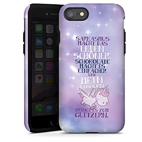 Apple iPhone 6 Plus Silikon Hülle Case Schutzhülle Einhorn Unicorn Sprüche Tough Case glänzend