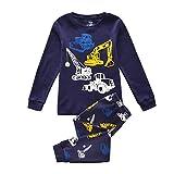 Tkiames Jungen Schlafanzug Langarm Herbst Winter Kinder Nachtwäsche Pyjama Sets 98 104 110 116 122 128 134