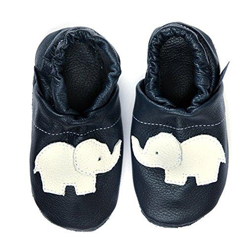 Leder Lauflernschuhe Mit Lederpuschen weiss eu Blau Elefant Babyschuhe Pantau Krabbelschuhe FUwq4PTv5