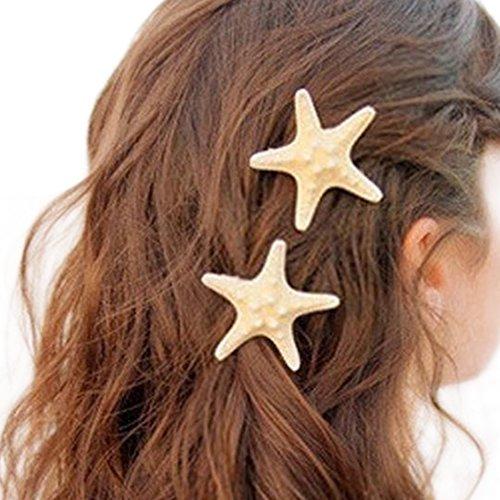 Demarkt Seestern Haarklammern Hairpin Haarspange Seestern Haarnadeln Haar Clip Haarschmuck Kopfschmuck