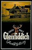 Blechschild Nostalgieschild Glenfiddich Hochformat Hirsch Scotch Whisky retro Schild Kneipenschild