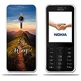 Fubaoda Nokia 230 Hülle, [Peak Road] Transparent Silikon TPU 3D zeitgenössischen Chic Design Minimalist Ultra Thin Lightest Fashion Kreativ Slim Fit Shockproof Flexible Beschützer für Nokia 230