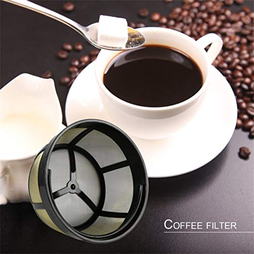 Footprintse Dauerhafter Korb-Art Goldton-Kaffeefilter mit dem festen Boden Entworfen für 8-12...