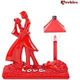 Archies Love Figurine with Lighting Lamp | Polyresin Red Color Decorative Showpiece | Valentine Gift (H - 13.6 Cm)