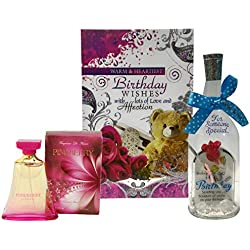 Saugat Traders Birthday Gift For Girls - Greeting Card, Perfume & Message Bottle