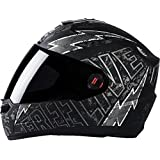 Steelbird Helmet SBA-1 Free Live with Smoke Visor and Matt Finish (Medium 580MM, Black with Grey)