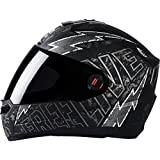 #3: Steelbird Helmet SBA-1 Free Live with Smoke Visor and Matt Finish (Medium 580MM, Black with Grey)