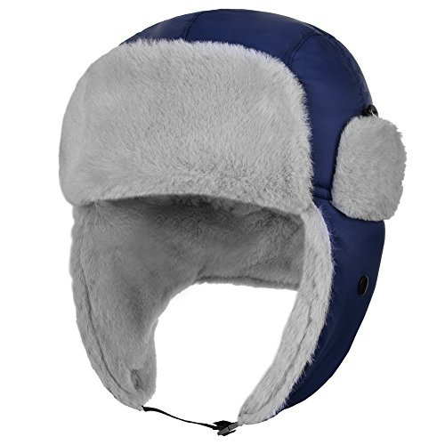 d4511a57c2ee3 6% OFF on Vbiger Winter Warm Trooper Trapper Hat Soft Bomber Hats Hunting  Hat Eskimo Hat Earmuffs Cap Skiing Cap (Dark Blue) on Amazon