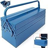 Stahl Werkzeugkoffer - blau - 530x200x210mm