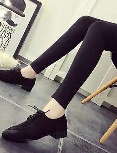 ZQ hug Scarpe Donna - Sneakers alla moda - Tempo libero / Formale - Comoda / A punta - Piatto - Finta pelle - Nero / Grigio / Kaki , gray-us8.5 / eu39 / uk6.5 / cn40 , gray-us8.5 / eu39 / uk6.5 / cn40 gray-us7.5 / eu38 / uk5.5 / cn38