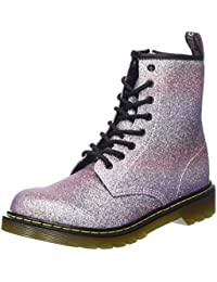 Dr. Martens Unisex Kids' Delaney Y Gltr Pink Multi Glitter PU Boots