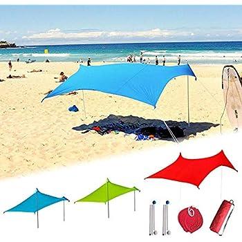 Parasol Nomade Plage Sun Leaf Avec Panneau Solaire 16 W