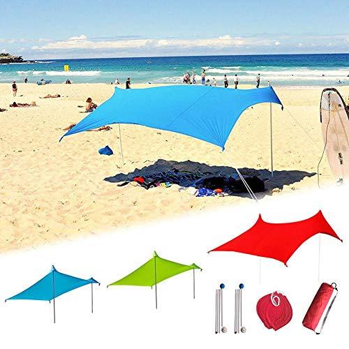 Chalkalon Parasol De Plage Anti Vent - 210 Cm X 210 Cm Tente De Plage Anti UV Famille - UPF50+ Protection Etanche...