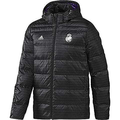 adidas Real Down JKT - Veste Ligne Real Madrid CF pour homme, Couleur Noir / Gris, Taille XS