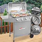 broil-master® BBQ Steel Gas Grill With 4 Burners | Grill Area 64,5 x