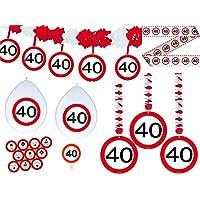 Konsait 40 Geburtstag Dekoration Set Cheers Zum 40 Geburtstag