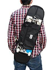 """Sac à bandoulière pour emporter 7.5"""" - 8"""" planche à roulettes, sac à dos, rucksack, cartouchière, sac banane. Noir"""